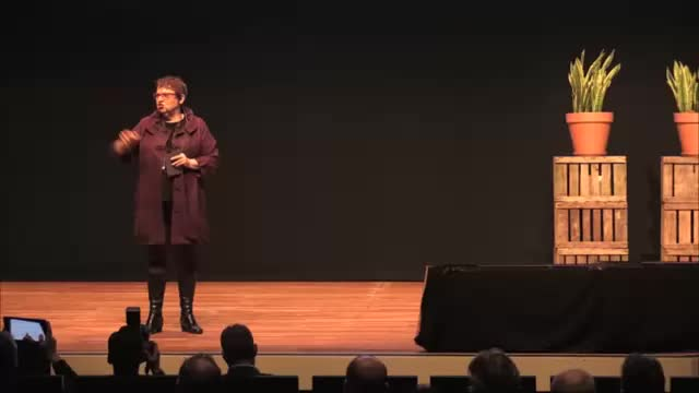 Carol Sanford Speaking to Audience